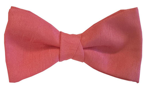 CLEARANCE - Deep Coral Shantung Boys Bow Tie - Clearance
