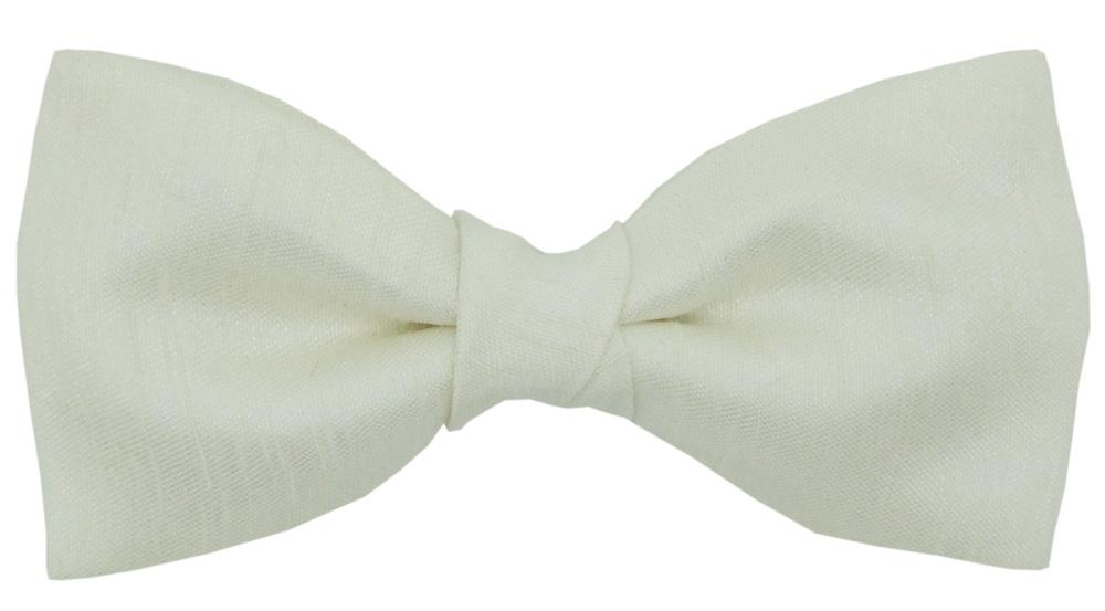 CLEARANCE - Ivory Shantung Boys Bow Tie - Clearance