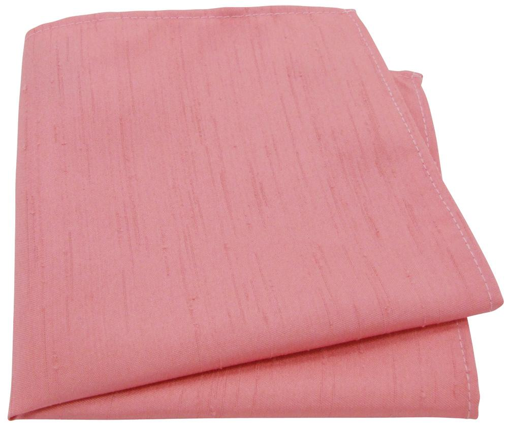 CLEARANCE - Light Coral Shantung Pocket Square - Clearance