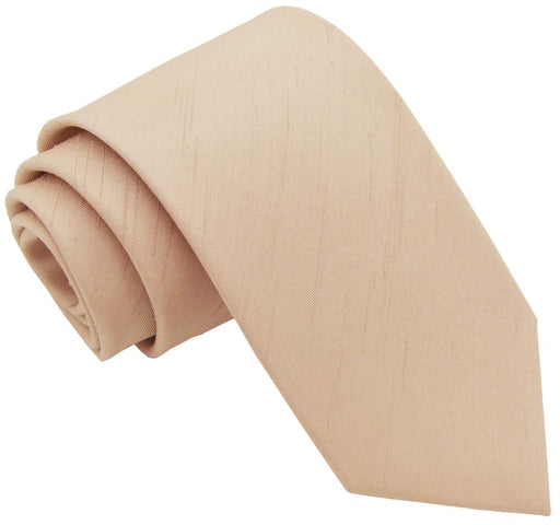 CLEARANCE - Parchment Shantung Skinny Tie - Clearance