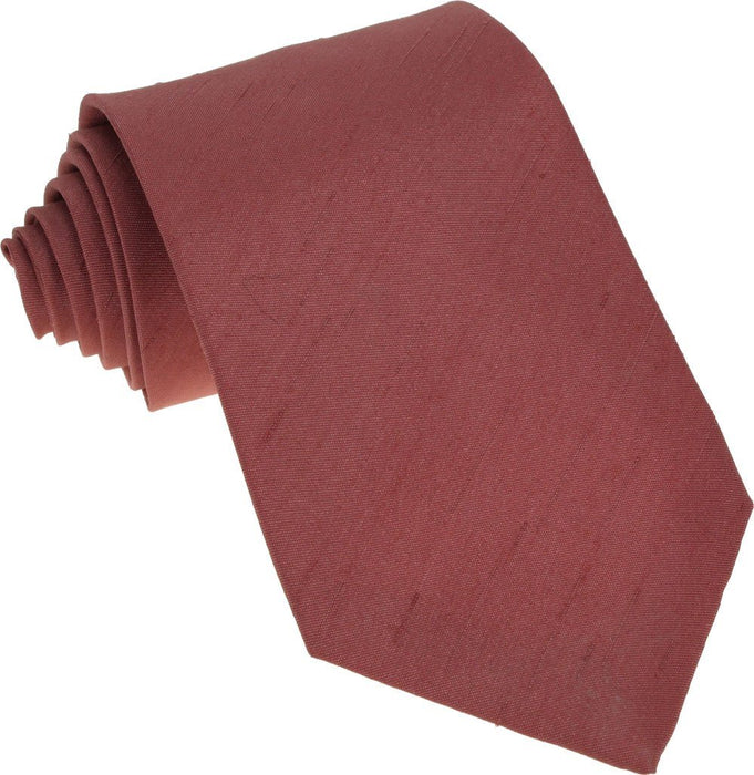 CLEARANCE - Rust Shantung Boys Tie - Clearance