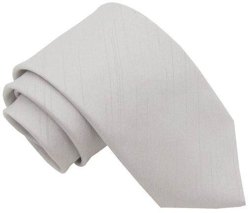 CLEARANCE - Silver Shantung Boys Tie - Clearance
