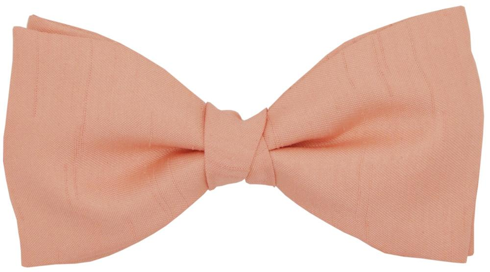 CLEARANCE - Tea Rose Shantung Bow Tie - Clearance