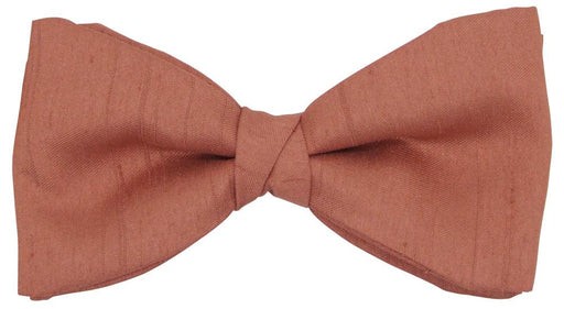CLEARANCE - Terracotta Shantung Bow Tie - Clearance