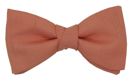 CLEARANCE - Terracotta Shantung Boys Bow Tie - Clearance
