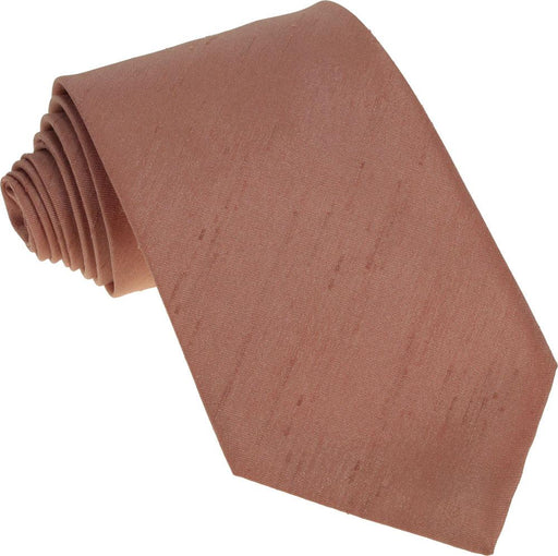 CLEARANCE - Terracotta Shantung Boys Tie - Clearance
