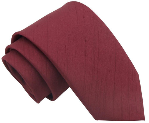 CLEARANCE - Wine Shantung Boys Tie - Clearance