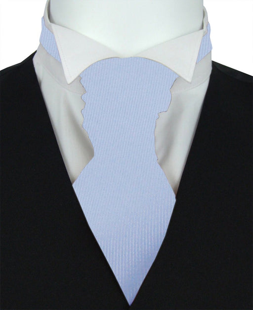 Cloudy Twill Boys Pre-Tied Wedding Cravat - Childrenswear