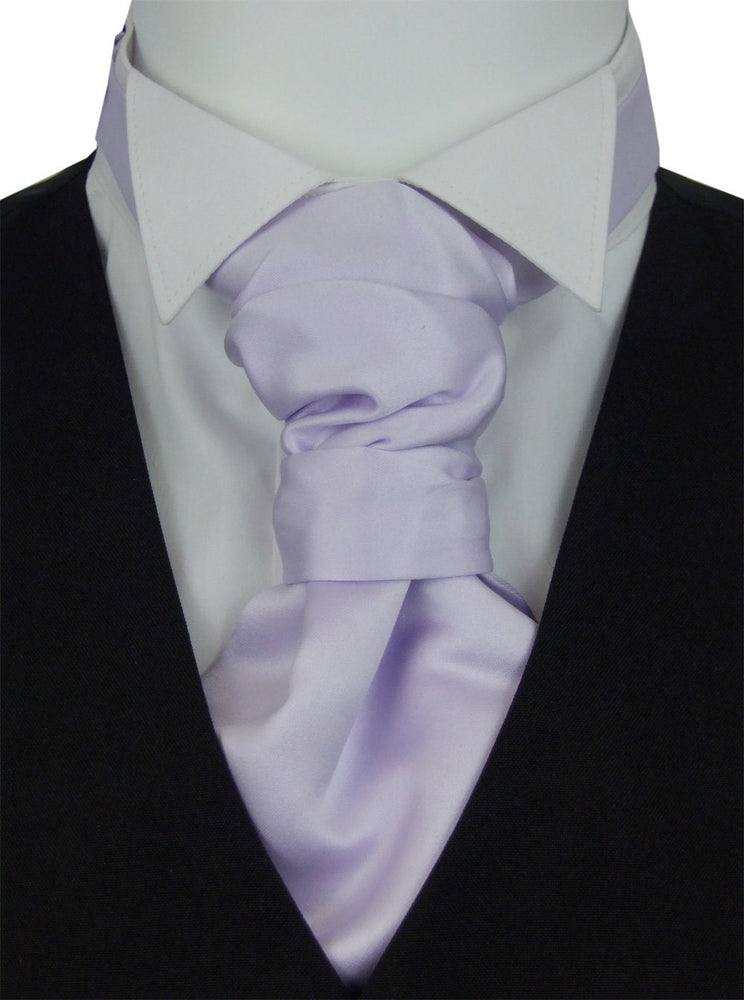 Cool Lilac Pre-Tied Wedding Cravat - Wedding