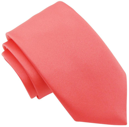 Coral Pink Boys Wedding Tie - Childrenswear