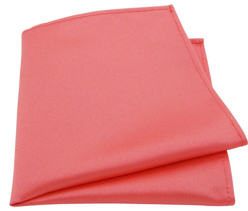 Coral Pink Pocket Square - Wedding Tie Sets