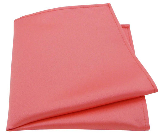 Coral Pocket Square - Wedding