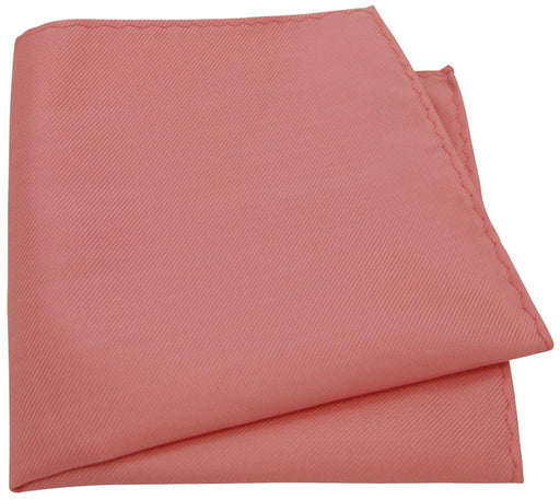 Coral Twill Pocket Square - Wedding