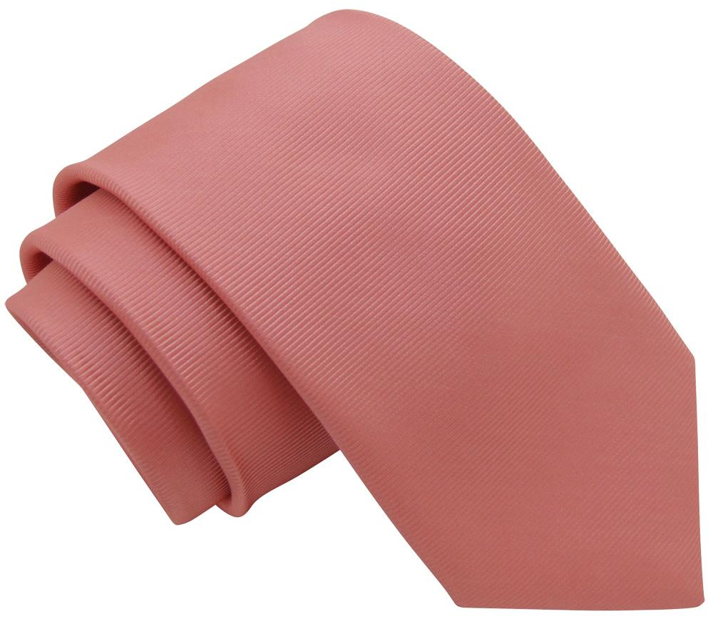 Coral Twill Wedding Tie - Wedding