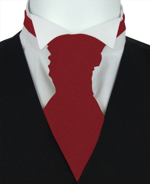 Cranberry Pre-Tied Wedding Cravat - Wedding