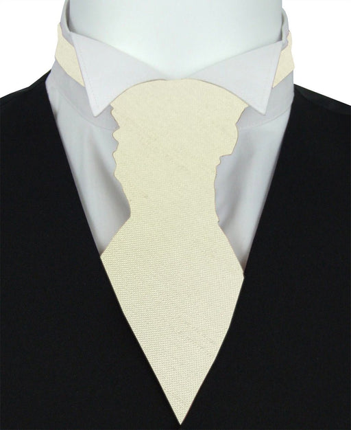 Cream Shantung Boys Pre-Tied Wedding Cravat - Wedding