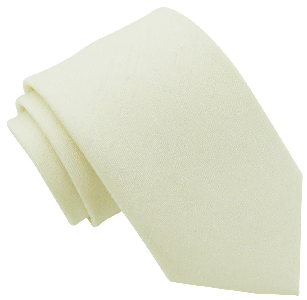Cream Shantung Wedding Tie - Wedding