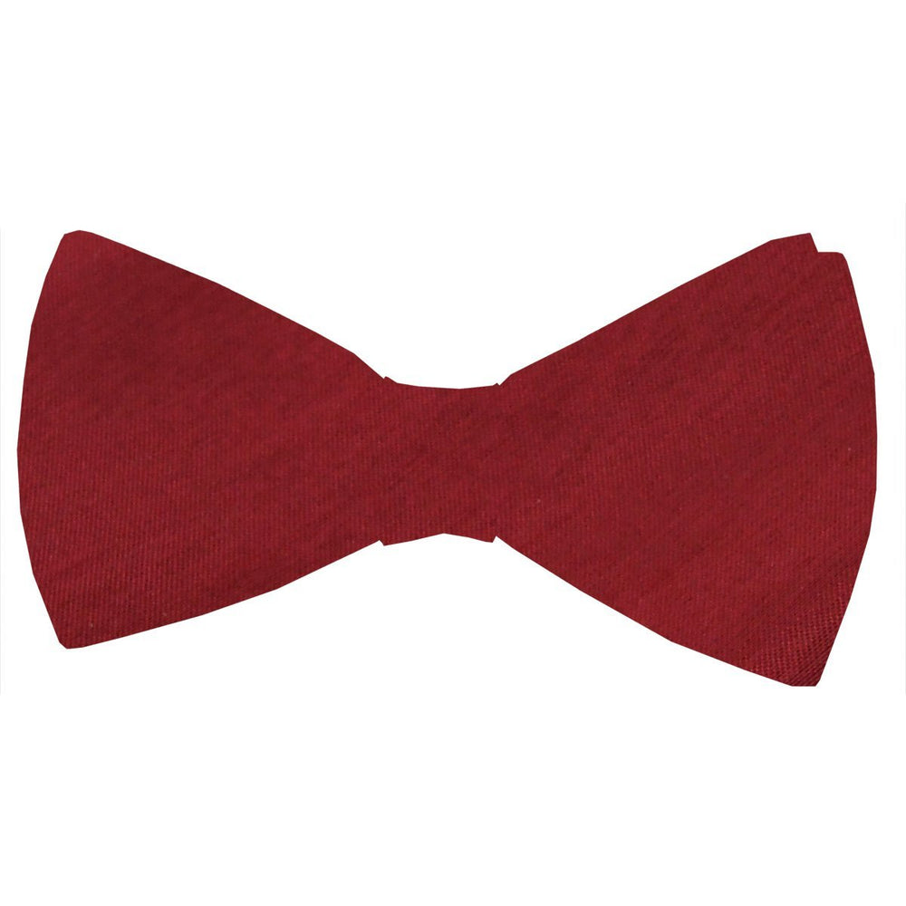 Crimson Shantung Bow Tie - Wedding