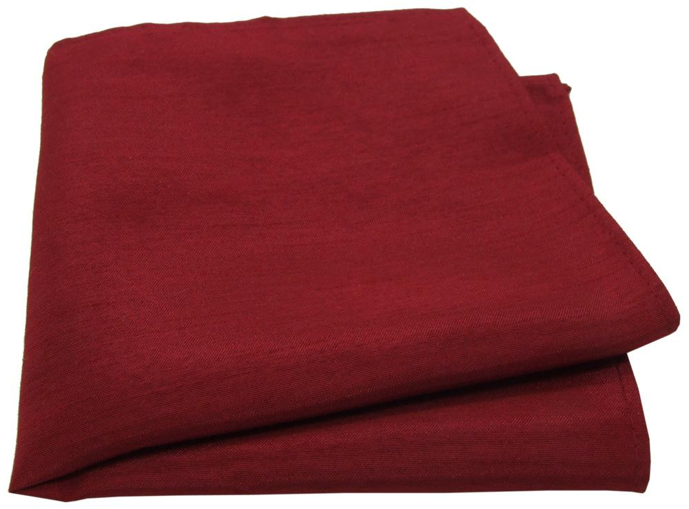 Crimson Shantung Pocket Square - Wedding