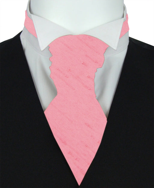 Dusky Pink Shantung Boys Wedding Cravat