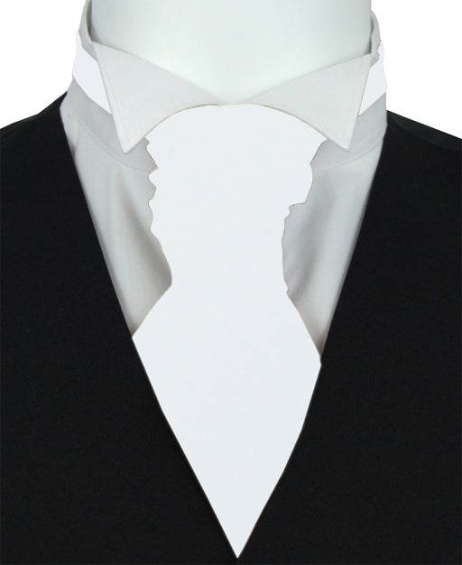 Crisp White Boys Wedding Cravat
