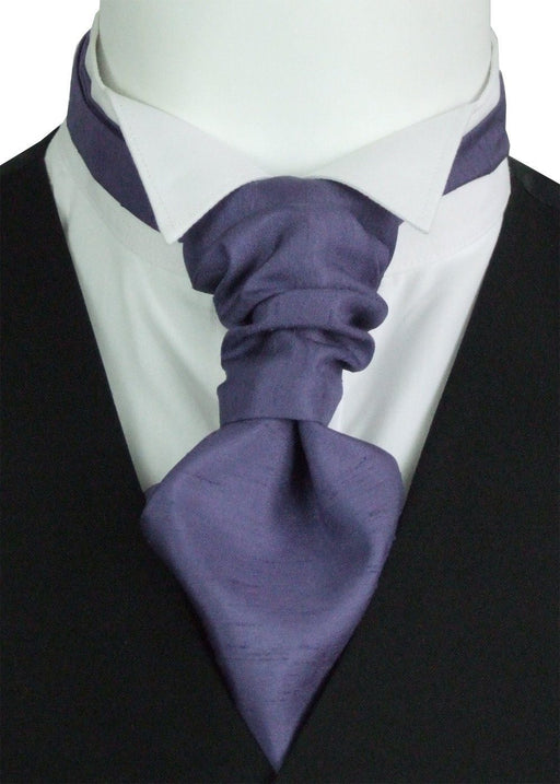 Damzen Shantung Boys Pre-Tied Wedding Cravat - Wedding