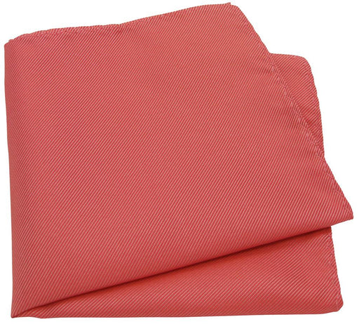Dark Coral Twill Pocket Square - Wedding