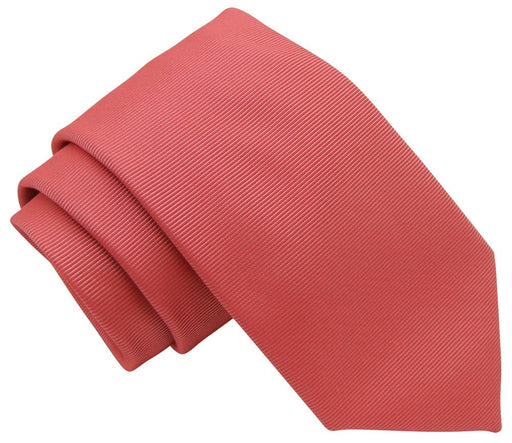Dark Coral Twill Wedding Tie - Wedding