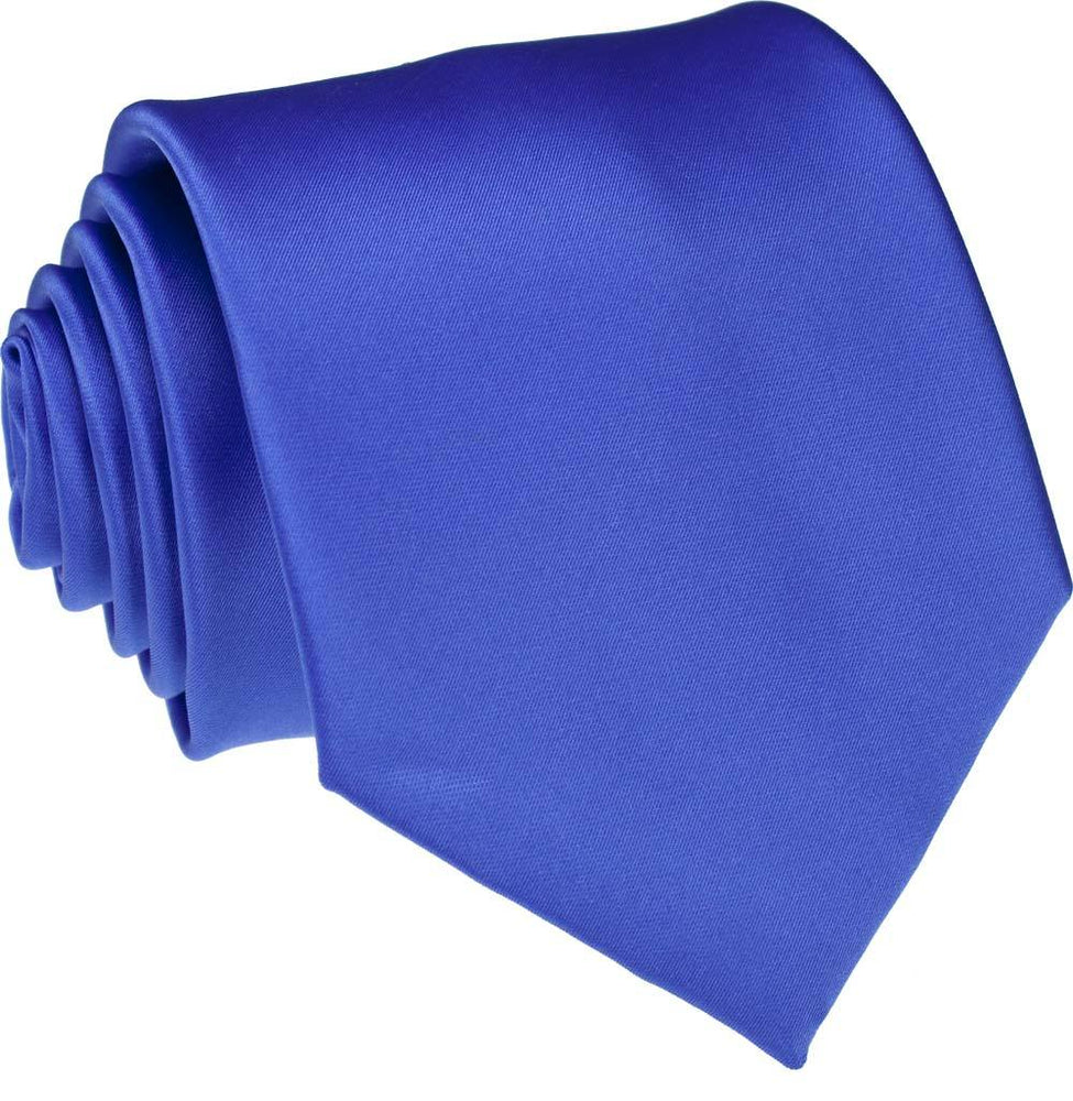 Dark Cornflower Blue Skinny Wedding Tie - Wedding