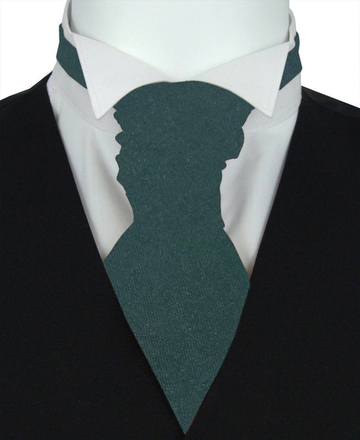 Dark Green Pre-Tied Wedding Cravat - Wedding