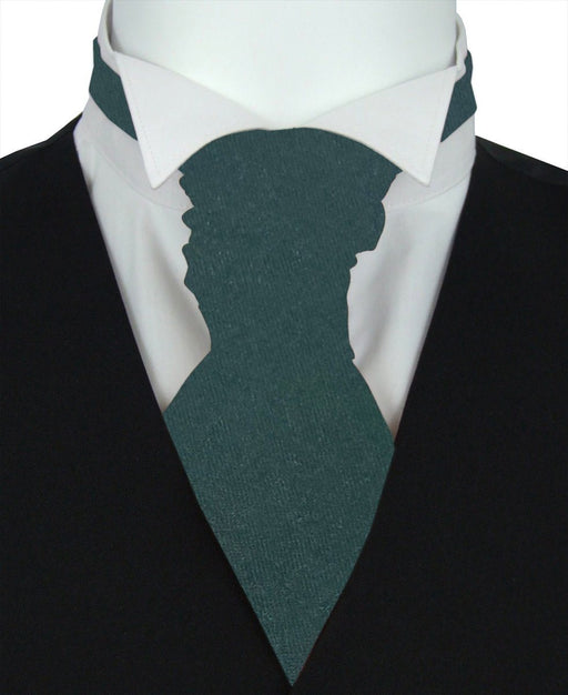 Dark Moss Pre-Tied Wedding Cravat - Wedding