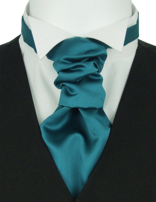 Dark Teal Boys Pre-Tied Wedding Cravat - Childrenswear