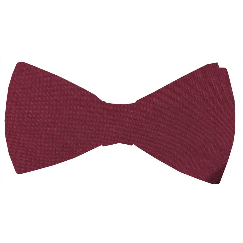 Dark Wine Shantung Bow Tie - Wedding