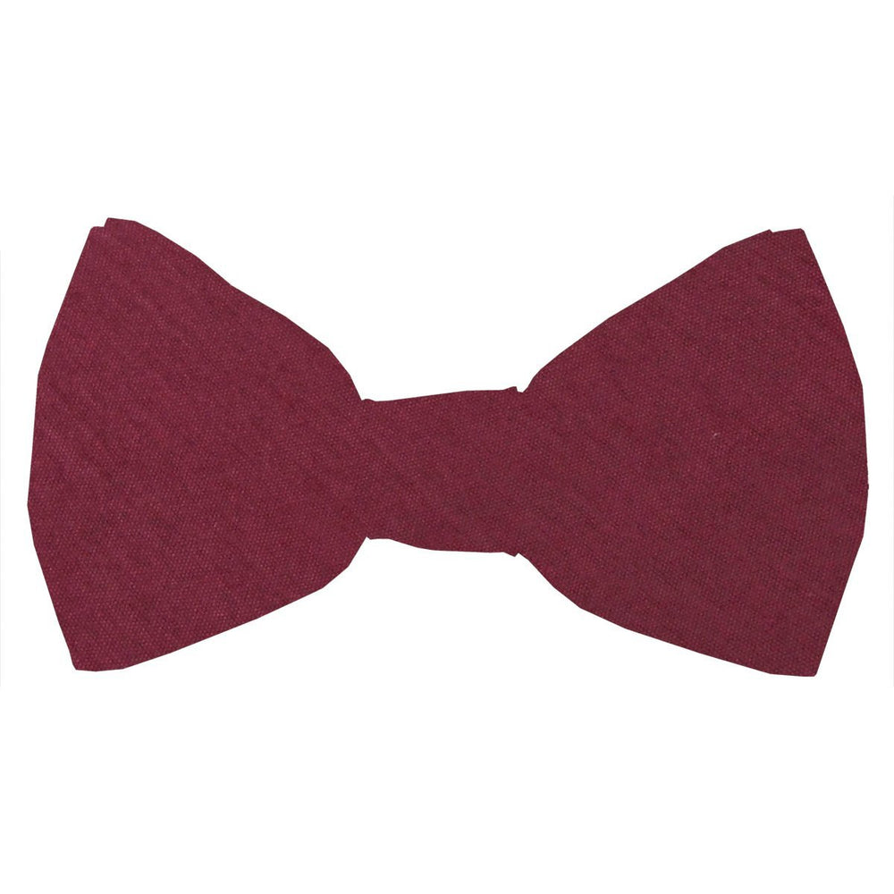 Dark Wine Shantung Boys Bow Tie - Childrenswear