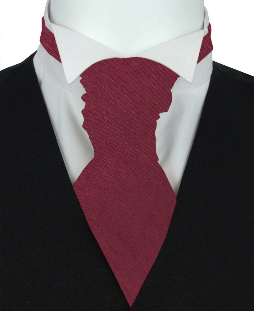 Dark Wine Shantung Boys Pre-Tied Wedding Cravat - Childrenswear