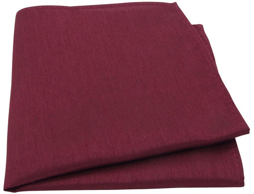 Dark Wine Shantung Pocket Square - Wedding
