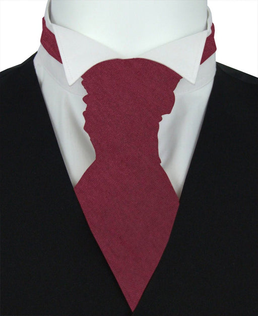 Dark Wine Shantung Pre-Tied Wedding Cravat - Wedding
