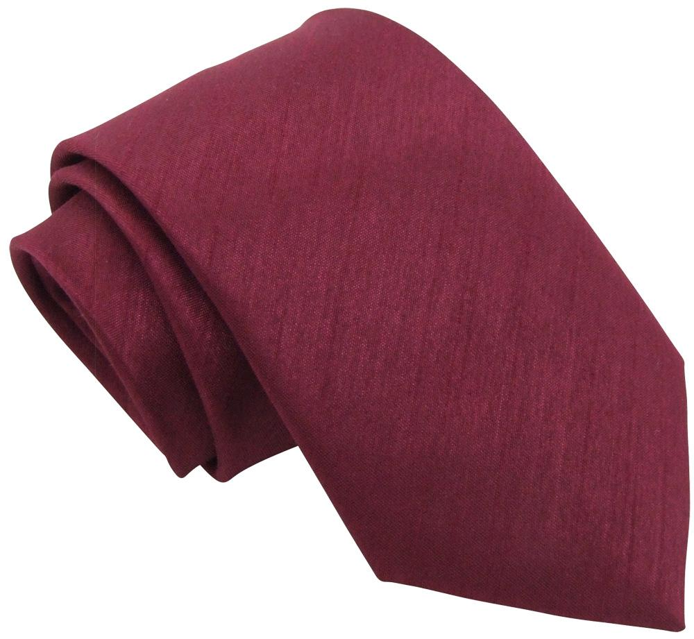 Dark Wine Shantung Wedding Tie - Wedding