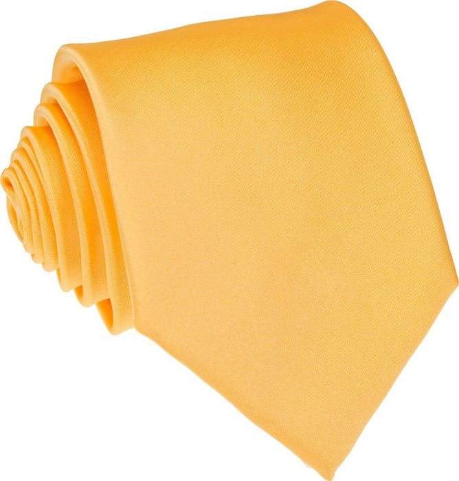 Dark Yellow Skinny Wedding Tie - Wedding