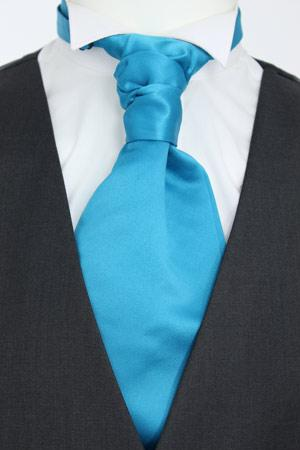 Deep Turquoise Pre-Tied Wedding Cravat - Wedding