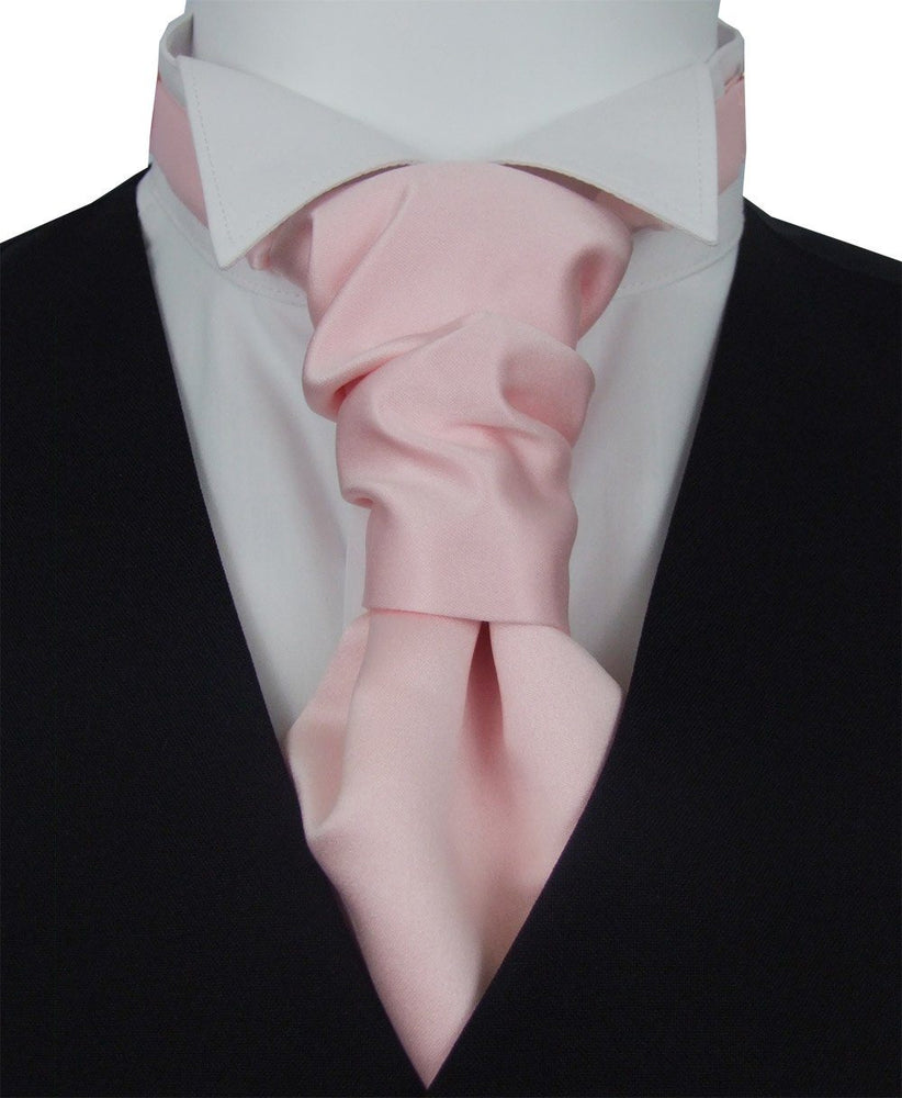 Delicate Pink Pre-Tied Boys Wedding Cravat - Wedding