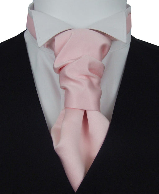Delicate Pink Pre-Tied Wedding Cravat - Wedding