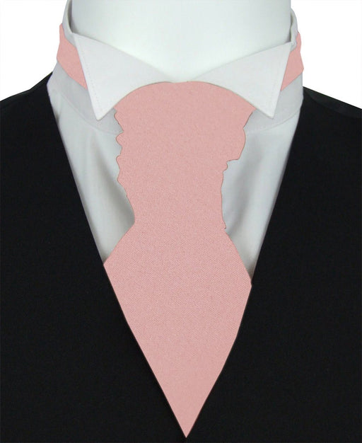 Dusty Rose Boys Pre-Tied Wedding Cravat - Childrenswear