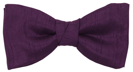 Elderberry Shantung Boys Bow Tie - Childrenswear