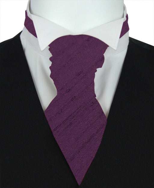 Elderberry Shantung Pre-Tied Wedding Cravat - Wedding