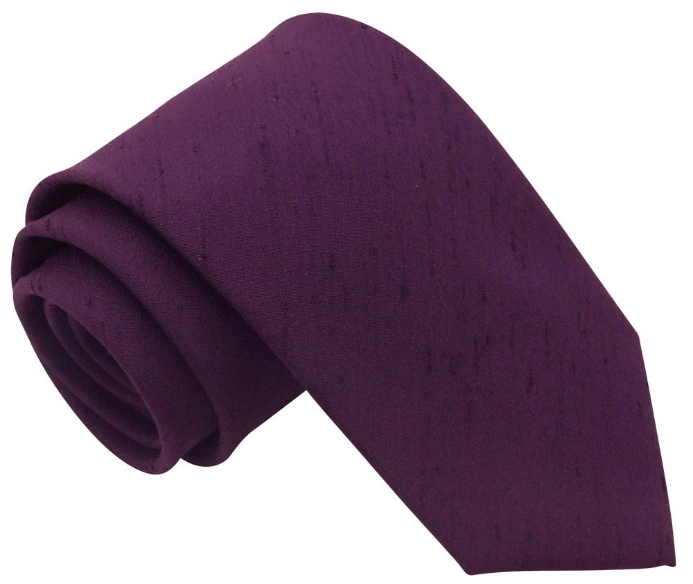 Elderberry Shantung Wedding Tie - Wedding