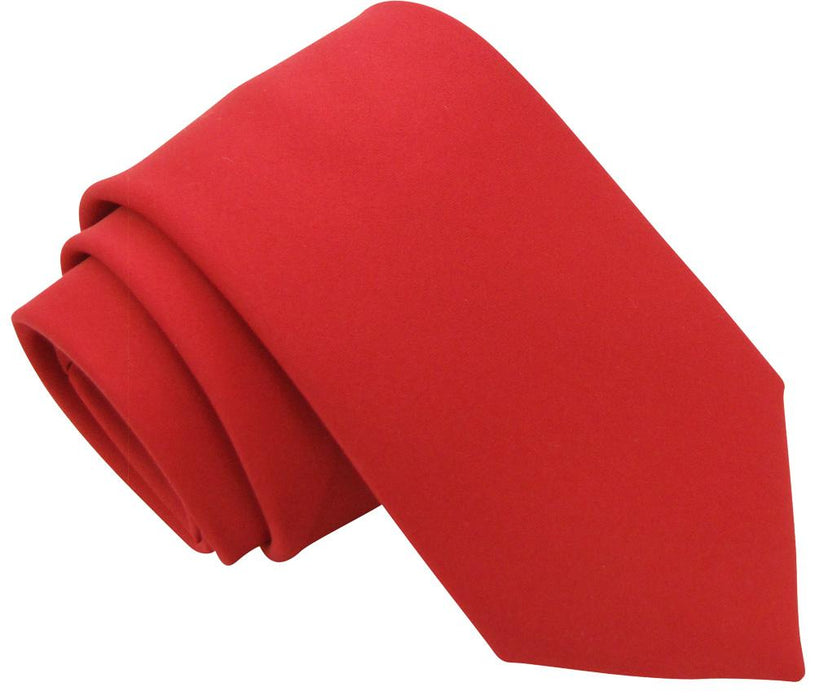 Flame Red Boys Tie - Childrenswear