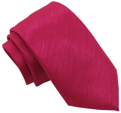 Fuchsia Shantung Wedding Tie - Wedding