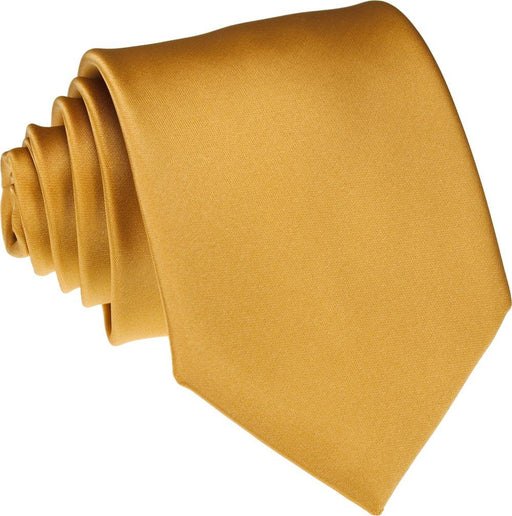 Golden Skinny Wedding Tie - Wedding
