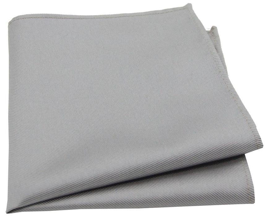 Grey Twill Pocket Square - Wedding